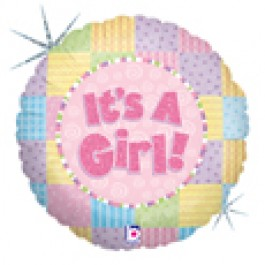 "It's A Girl ! 18"" Mylar Balloons EB 79"