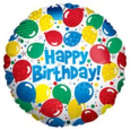 """Happy Birthday ! 18"""" Mylar Baloons EB -83"""