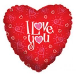 "I Love You  18"" Mylar Balloons EB -85"