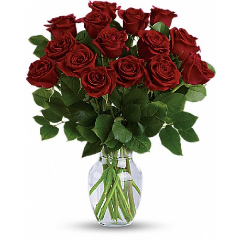 15 stem red roses bouquet  EB-582