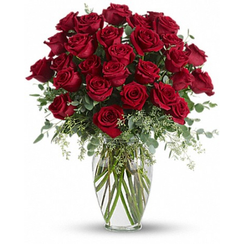 30  premium long stem red roses EB-584