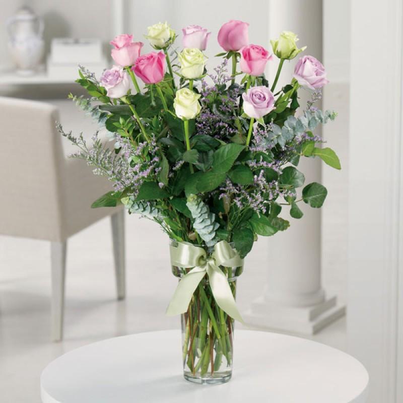 Dz premium long stem roses mixed color  EB-73
