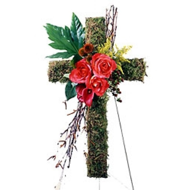 Moss Cross Standing spray EB-124