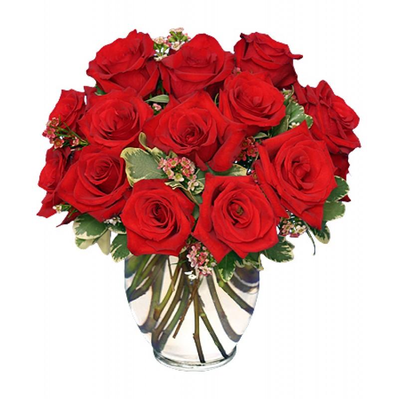 classic short stem rose bouqet EB-588