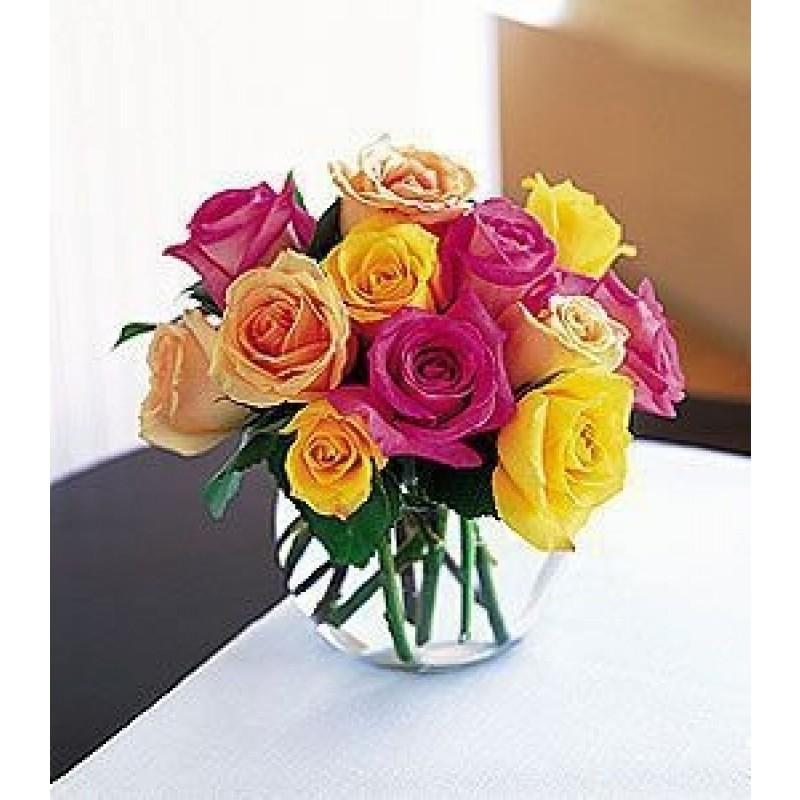 Rainbow rose bouquet EB-328