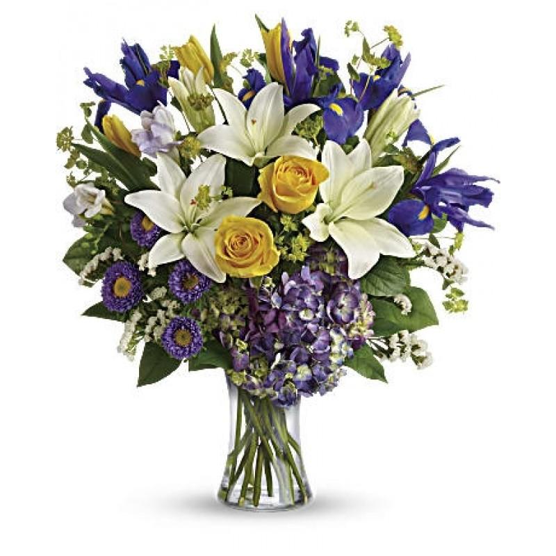 Floral Spring Iris Bouquet EB-17