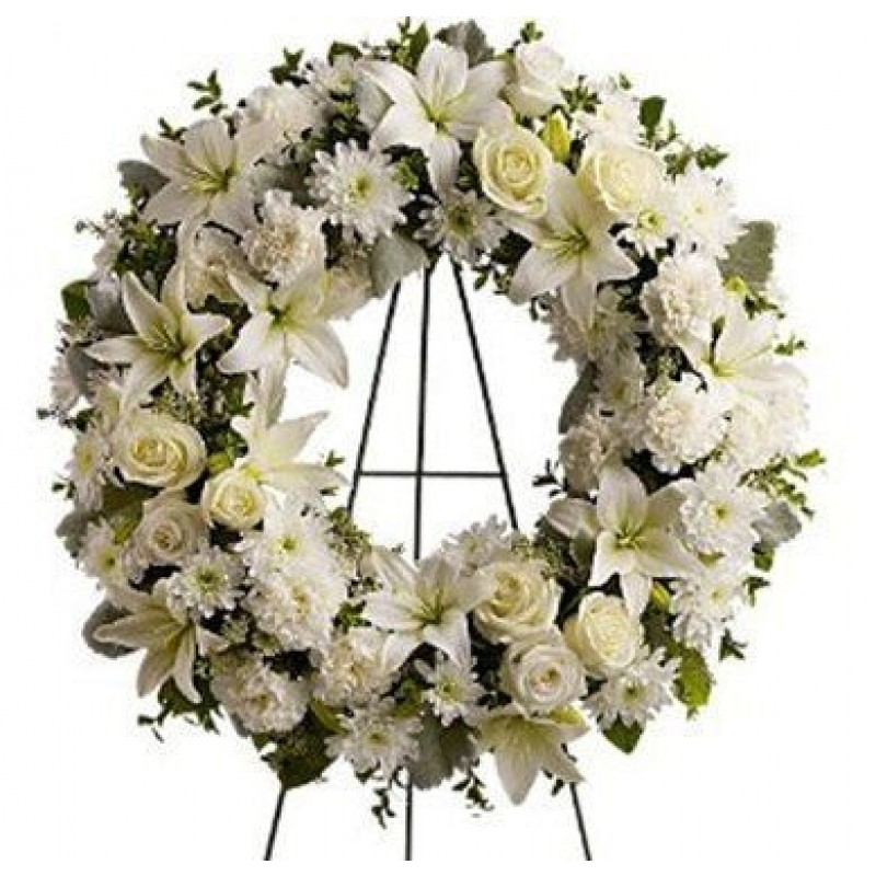 White Garden Wreath -EB123