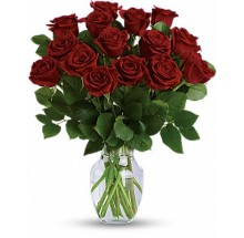15 Short stem red roses bouquet  EB-582