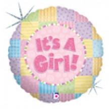 "It's A Girl ! 18"" Mylar Balloons EB 79"