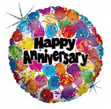 "Happy Anniversary 18"" Mylar Balloons EB -86"