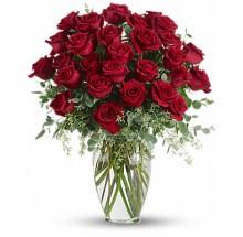 30  premium long stem red roses EB-584