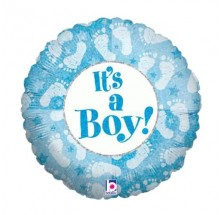 "It's A Boy ! 18"" Mylar Balloons  EB-95"