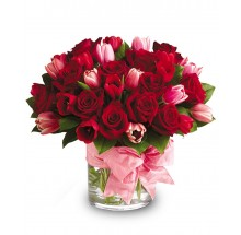 Pretty in red bouquet EB-599