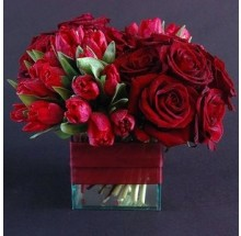 Velvet red bouquet EB-478