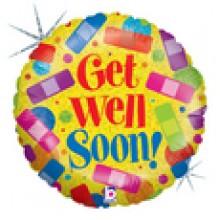 """Get Well Soon ! 18"""" Mylar Balloons EB -87"""