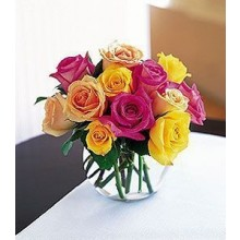 Rainbow rose bouquet EB-328