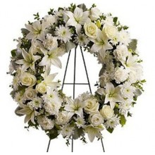 White Garden Wreath -EB123